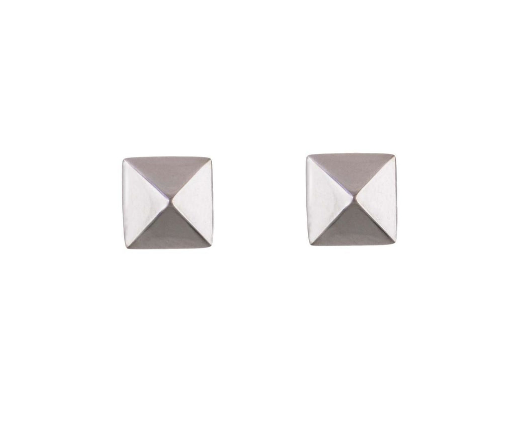 White Gold Spike Earrings - TWISTonline