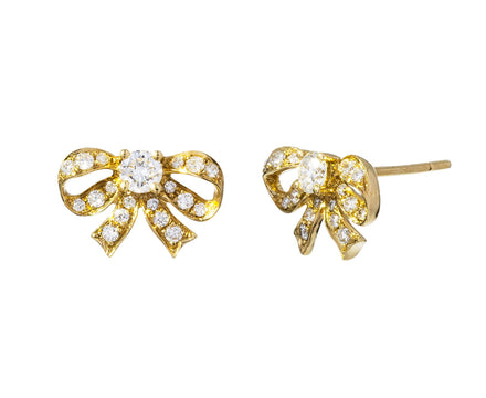 Diamond Bow Earrings - TWISTonline