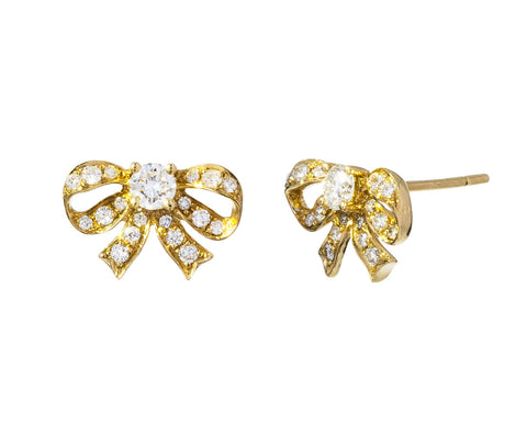 Diamond Bow Earrings