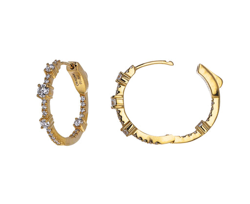 Medium Diamond Collins Hoop Earrings
