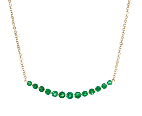 Emerald Crescent Necklace