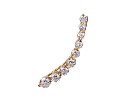 Left Floating Diamond SINGLE Earring - TWISTonline