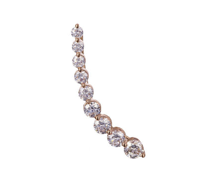 Right Floating Diamond SINGLE Earring - TWISTonline