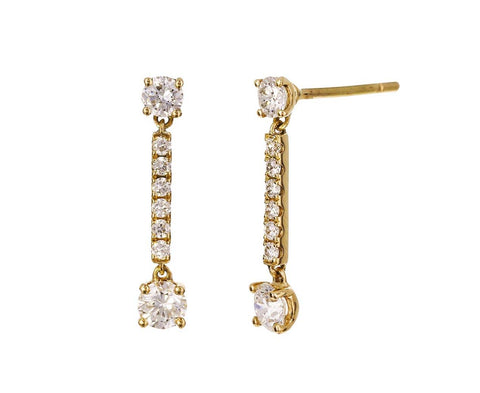 Diamond Emma Earrings - TWISTonline