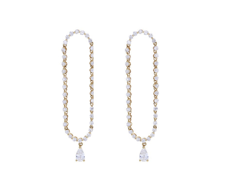 Hudson Diamond Drop Earrings