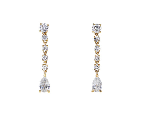 Anita Ko Diamond Small Rope Drop Earrings