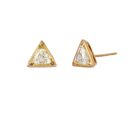 Triangle Diamond Post Earrings zoom 1_anita_ko_gold_triangle_shaped_diamond_stud_earri