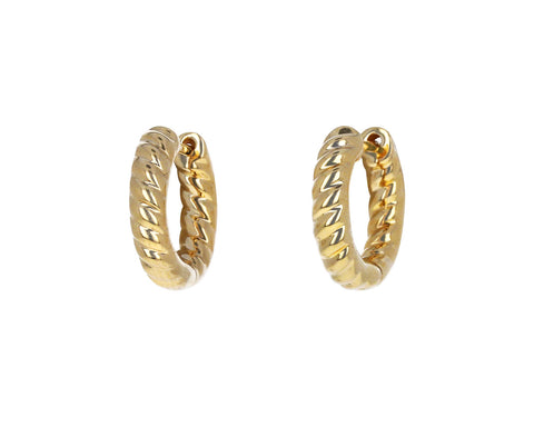 Anita Ko Small Zoe Huggie Hoop Earrings