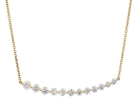 Graduated Diamond Bar Necklace - TWISTonline