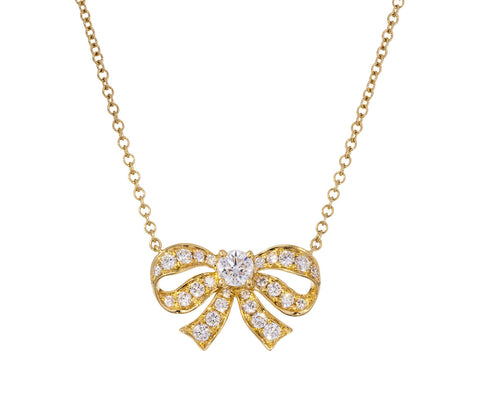 Diamond Bow Pendant Necklace - TWISTonline