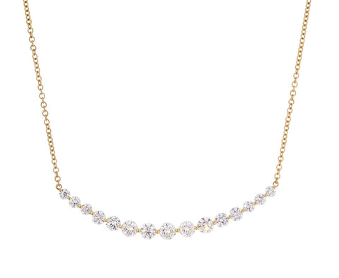 Large Diamond Crescent Necklace