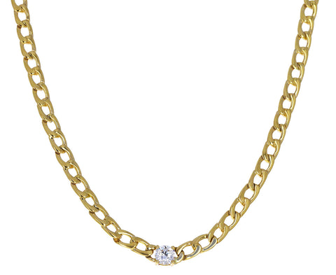 Round Diamond Chain  Necklace