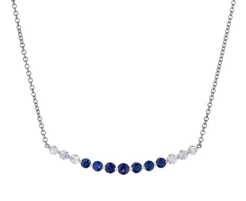 Blue Sapphire Diamond Necklace - TWISTonline