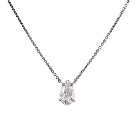 Pear Shaped Diamond Pendant Necklace - TWISTonline