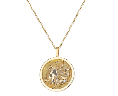 Lucky Pig Coin Lunar Zodiac Necklace