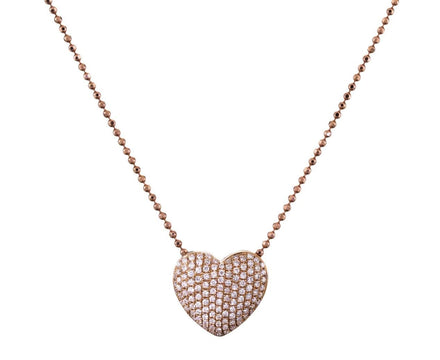 Diamond Pavé Heart Necklace - TWISTonline