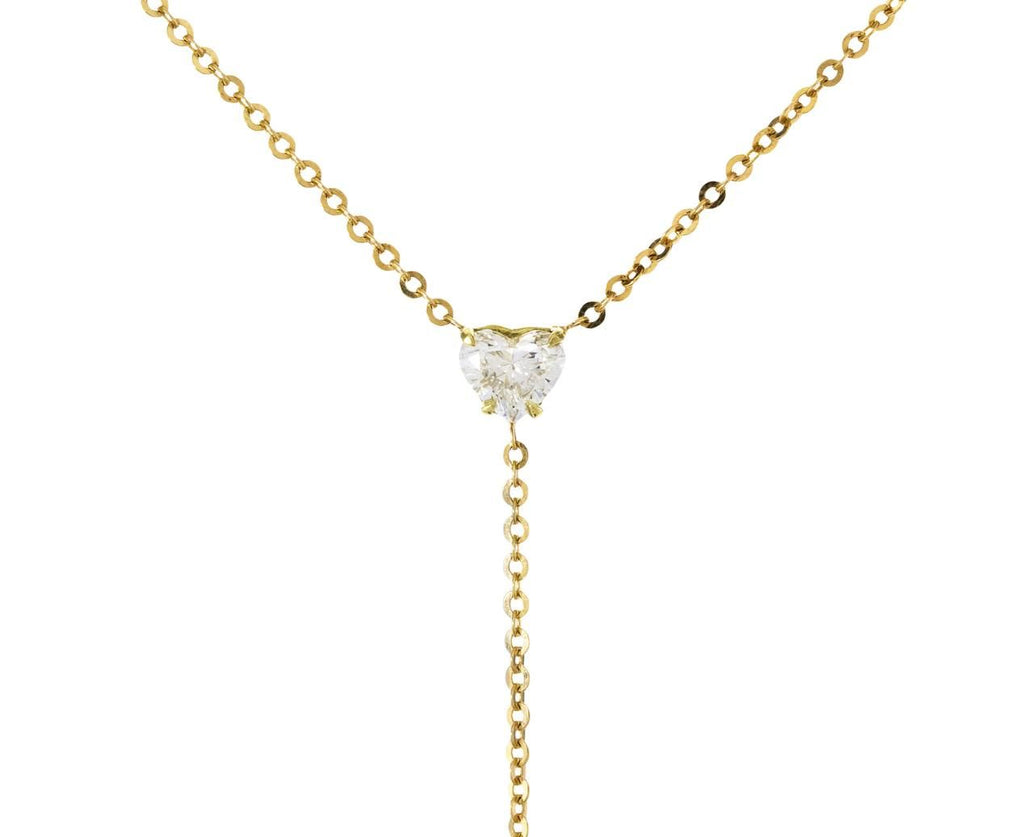 Heart and Marquise Diamond Lariat Necklace - TWISTonline