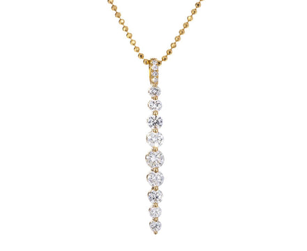 Yellow Gold Diamond Twiggy Necklace - TWISTonline