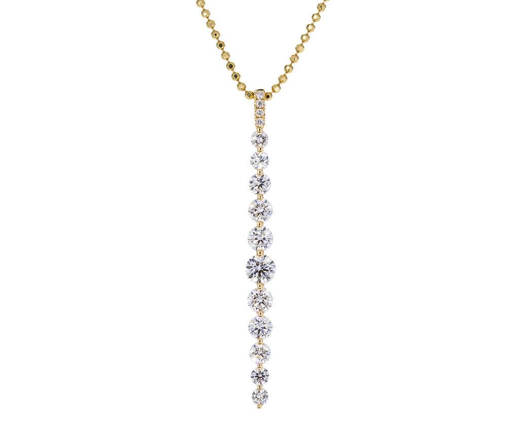 Long Twiggy Diamond Pendant Necklace - TWISTonline