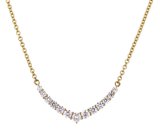 Diamond V Curved Pendant Necklace - TWISTonline