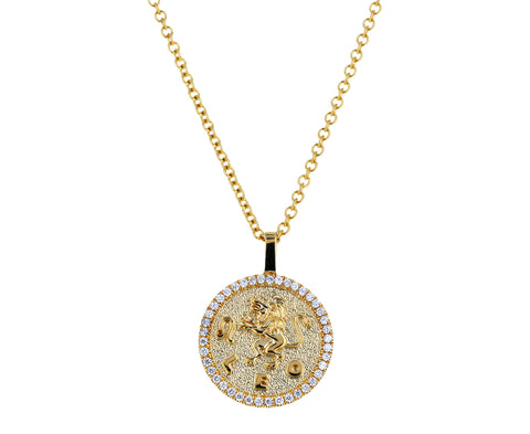 Small Diamond Leo Pendant Necklace - TWISTonline