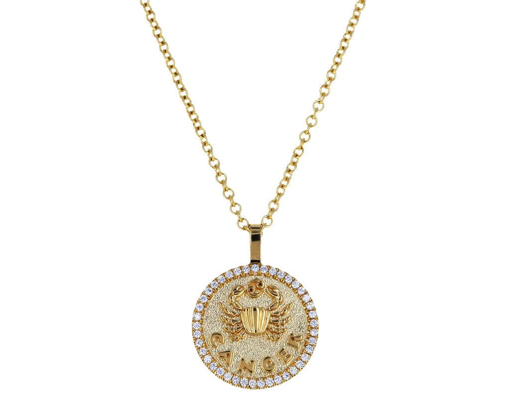 Small Cancer Zodiac Pendant Necklace - TWISTonline