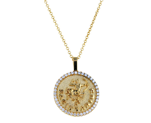 Diamond Sagittarius Pendant Necklace - TWISTonline