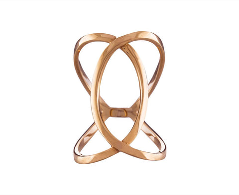 Rose Gold Infinity Ring - TWISTonline