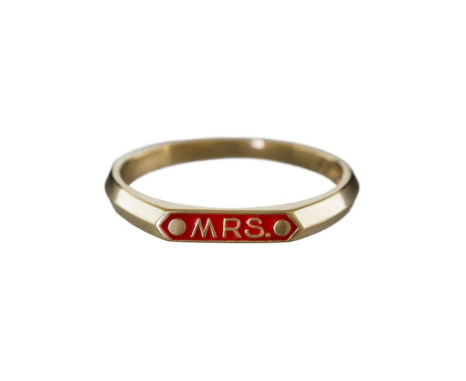 Red Enamel 'Mrs.' Ring - TWISTonline