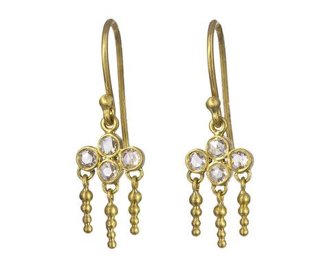 Rose Cut Quatrefoil Chandelier Earrings - TWISTonline