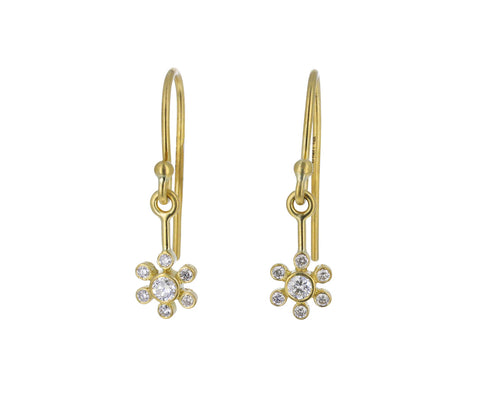 Brilliant Diamond Flower Earrings