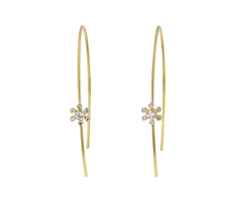 Brilliant Diamond Flower Hoops