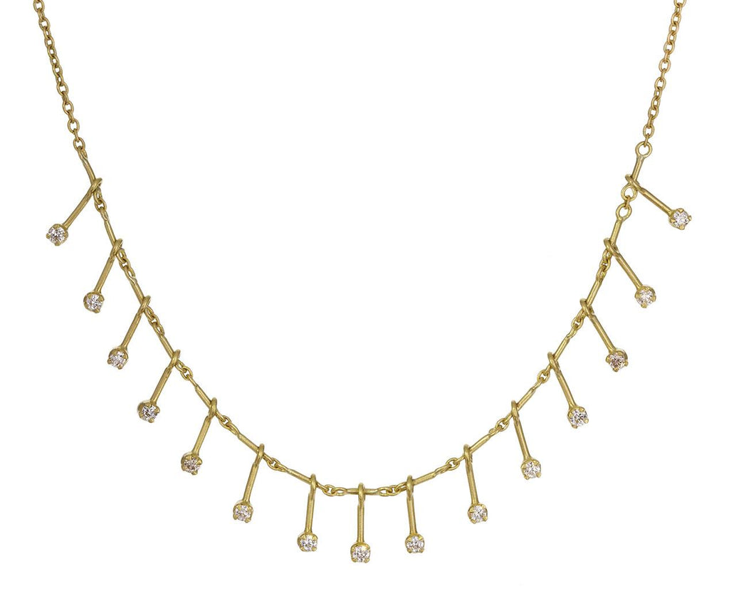 Diamond Shooting Star Fringe Necklace - TWISTonline