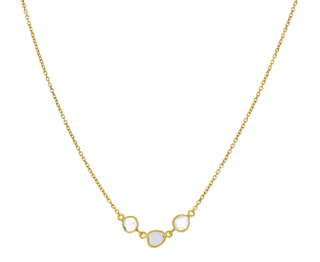 Polki Diamond Mini Garland Necklace