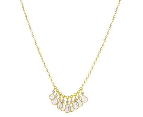 Polki Diamond Spacing Necklace