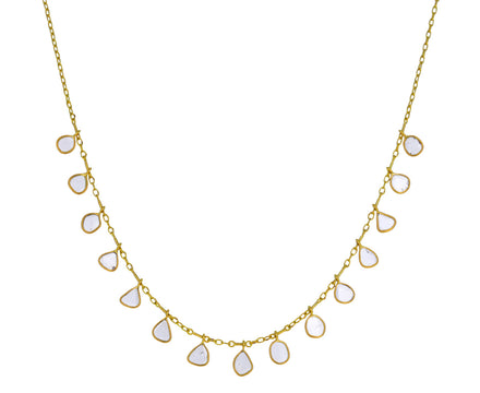 Polki Diamond Fringe Necklace