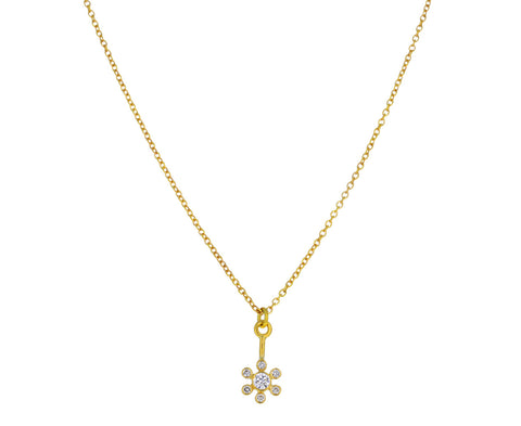 Brilliant Diamond Flower Necklace