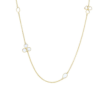 Long Flower Polki Diamond Necklace - TWISTonline