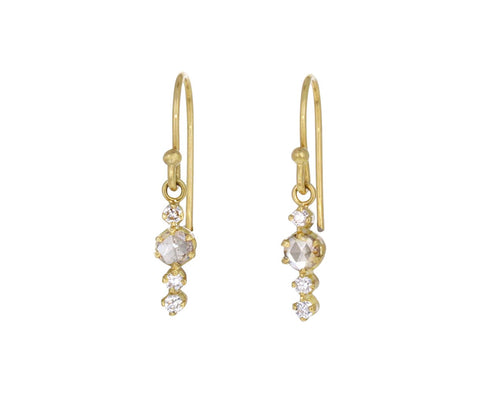 Rosecut Champagne Diamond Bolide Earrings