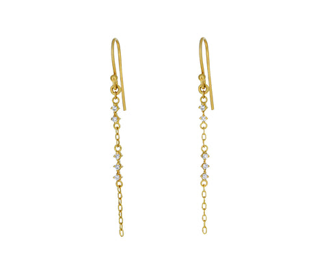 Diamond Starlight Chain Earrings - TWISTonline