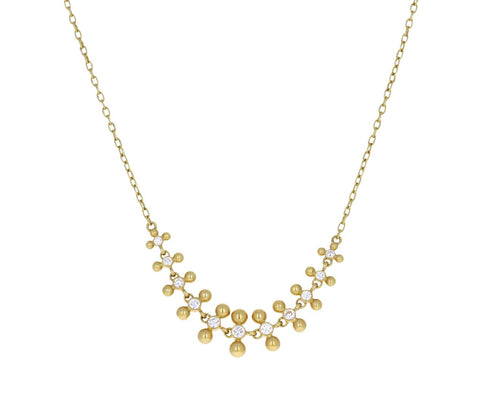 Graduated Diamond Double Dot Node Inline Necklace