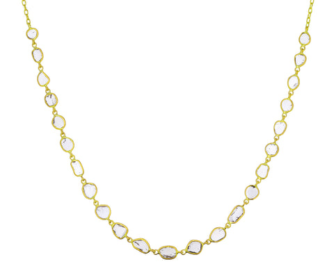 Polki Diamond In Line Necklace