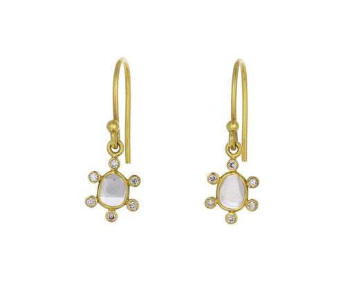 Polki Diamond Satellite Earrings