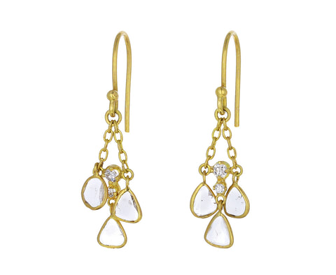 Polki Diamond Chime Earrings