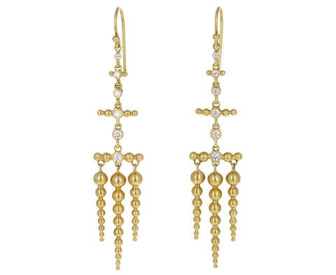 Tapered Spike Diamond Chandelier Earrings