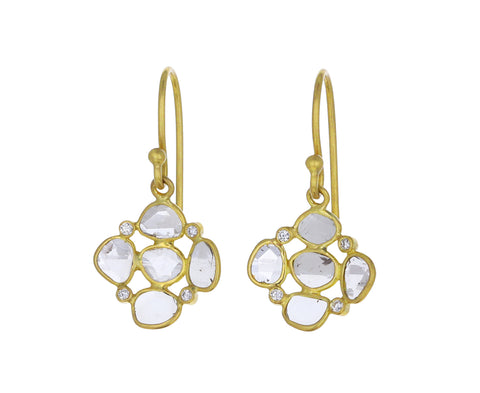Polki Diamond Dish Earrings