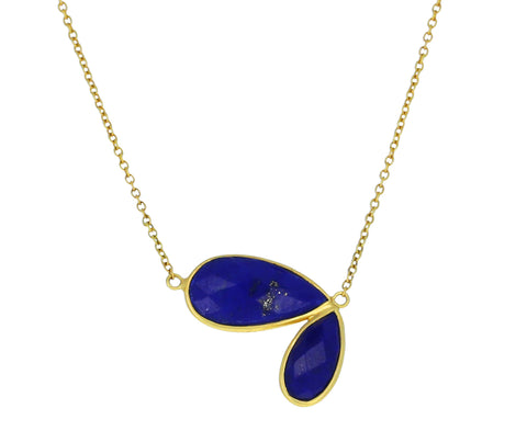 Lapis Fly Wing Necklace - TWISTonline
