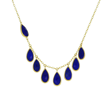 Asymmetrical Lapis Wing Necklace - TWISTonline