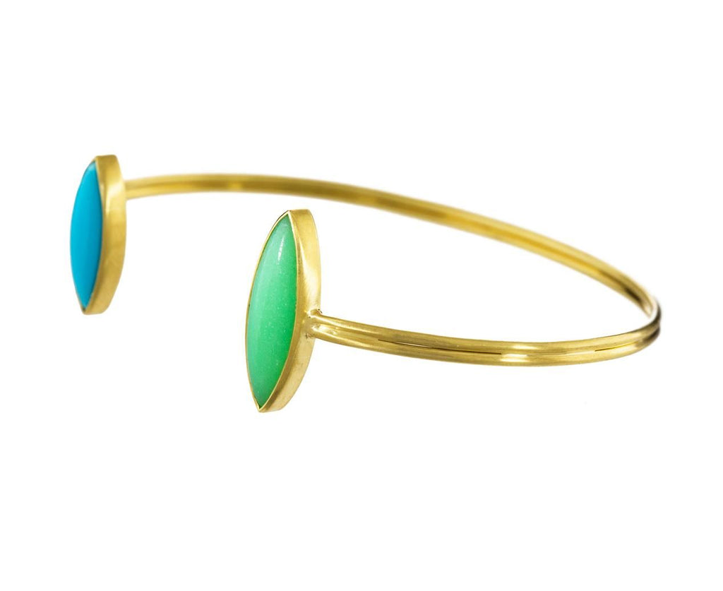 Turquoise and Mint Chrysoprase Marquise Bracelet - TWISTonline