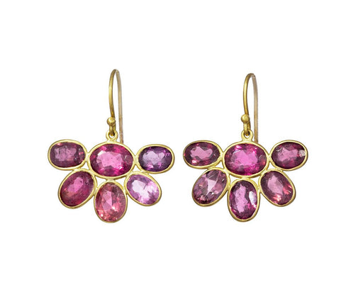 Pink Tourmaline Flower Earrings - TWISTonline